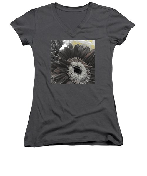 Women's V-Neck T-Shirt (Junior Cut) featuring the photograph Centerpiece by Photographic Arts And Design Studio