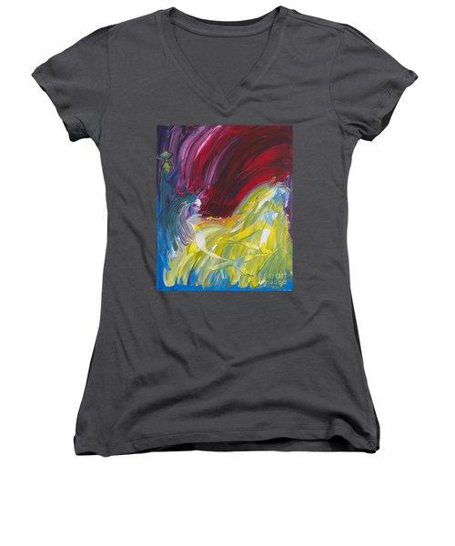 Chariot Through Hell Women's V-Neck T-Shirt