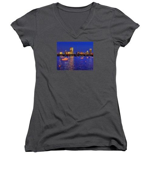 Charles River Basin 013 Women's V-Neck T-Shirt