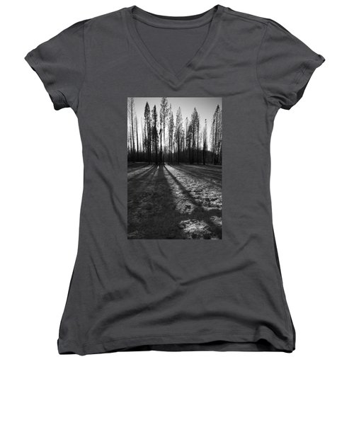Charred Silence - Yosemite Rm Fire 2013 Women's V-Neck (Athletic Fit)
