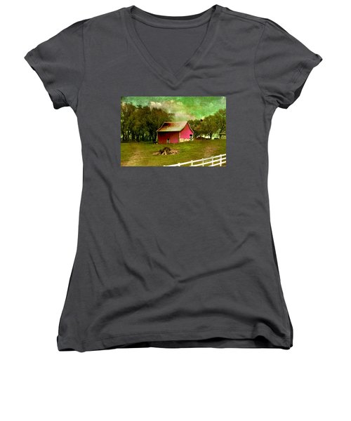 Chartreuse Of Legend Women's V-Neck T-Shirt (Junior Cut) by Liane Wright