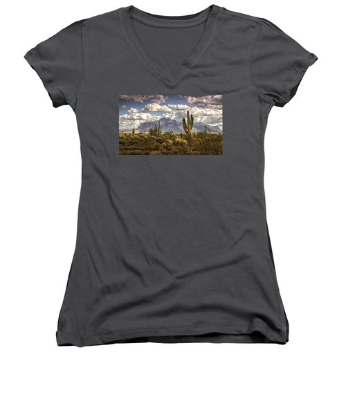 Chasing Clouds Two  Women's V-Neck T-Shirt