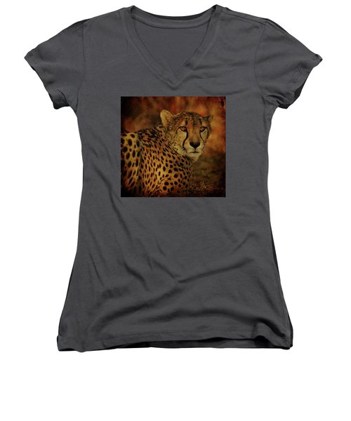 Cheetah Women's V-Neck