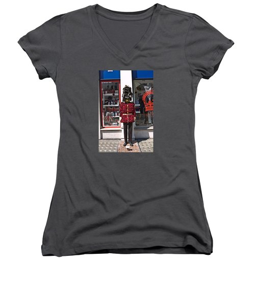 Chelsea In Bloom. Women's V-Neck (Athletic Fit)