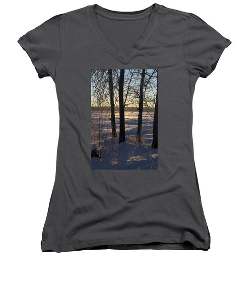 Chena River Trees Women's V-Neck T-Shirt