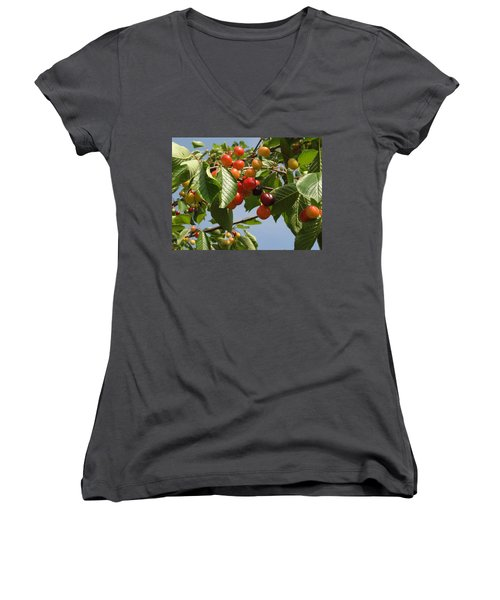 Women's V-Neck T-Shirt (Junior Cut) featuring the photograph There's Always 'that One' by Natalie Ortiz