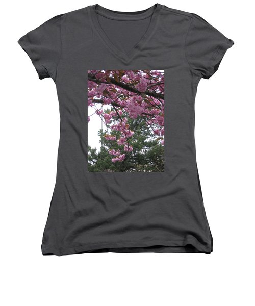 Cherry Blossoms 1 Women's V-Neck (Athletic Fit)