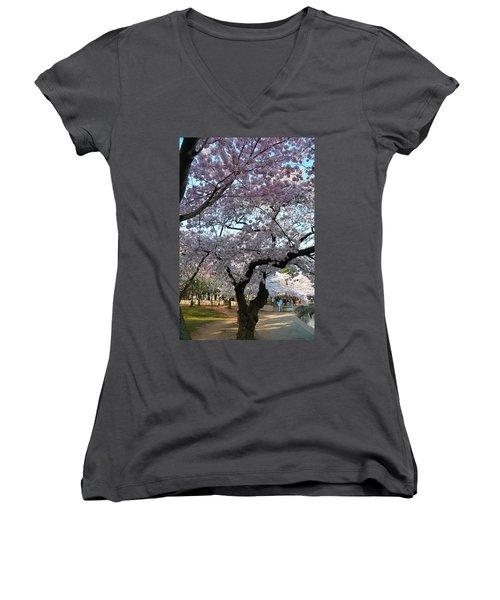 Cherry Blossoms 2013 - 044 Women's V-Neck