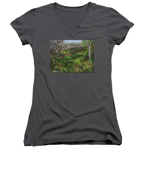 Cherry Orchard Evening Women's V-Neck