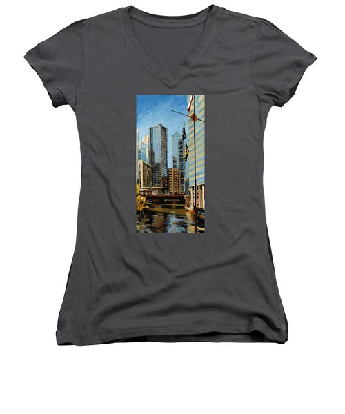 Chicago - The River From The East Women's V-Neck
