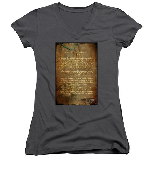 Chief Tecumseh Poem Women's V-Neck (Athletic Fit)