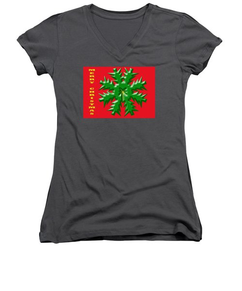 Christmas Card 1 Women's V-Neck (Athletic Fit)