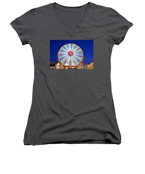 Christmas Ferris Wheel Women's V-Neck T-Shirt