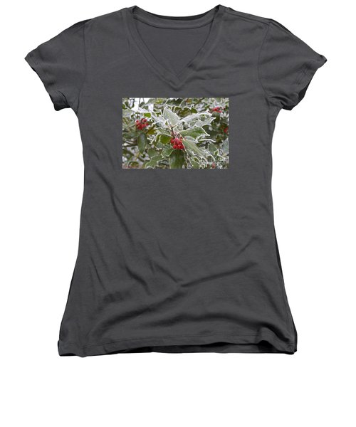 Christmas Greetings Women's V-Neck (Athletic Fit)