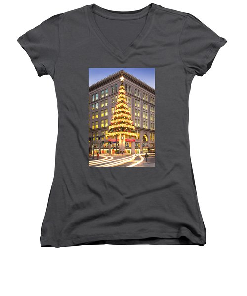 Christmas In Pittsburgh  Women's V-Neck (Athletic Fit)