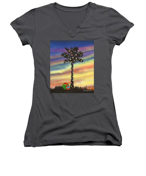 San Clemente Christmas Women's V-Neck