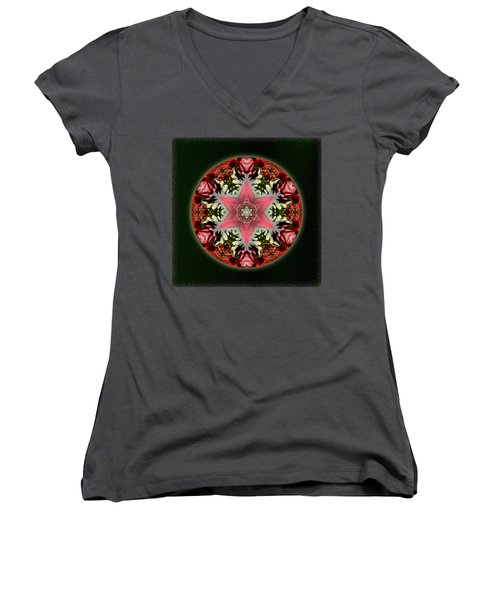 Christmas Star Women's V-Neck T-Shirt