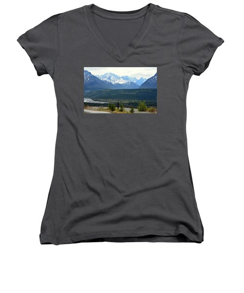 Chugach Mountains Women's V-Neck (Athletic Fit)