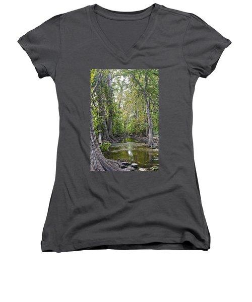 Cibolo Creek - 2 Women's V-Neck T-Shirt (Junior Cut)
