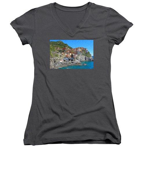 Cinque Terre Itl3403 Women's V-Neck