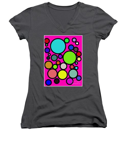 Circles Galore Women's V-Neck (Athletic Fit)