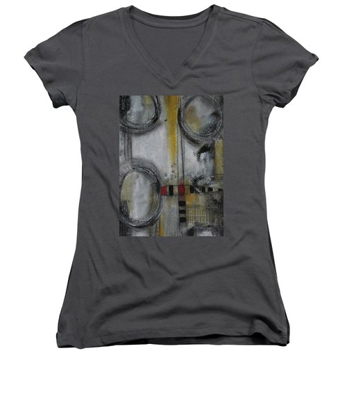 Circles Of Life Women's V-Neck T-Shirt (Junior Cut) by Nicole Nadeau