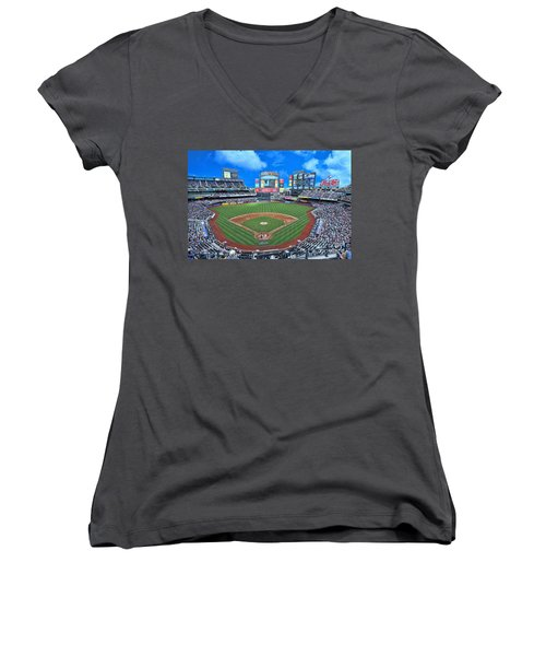 Citi Field Women's V-Neck T-Shirt (Junior Cut)