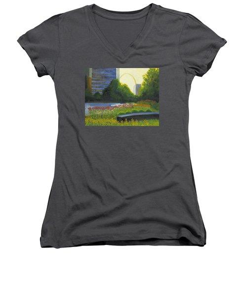 City Garden St. Louis Women's V-Neck T-Shirt