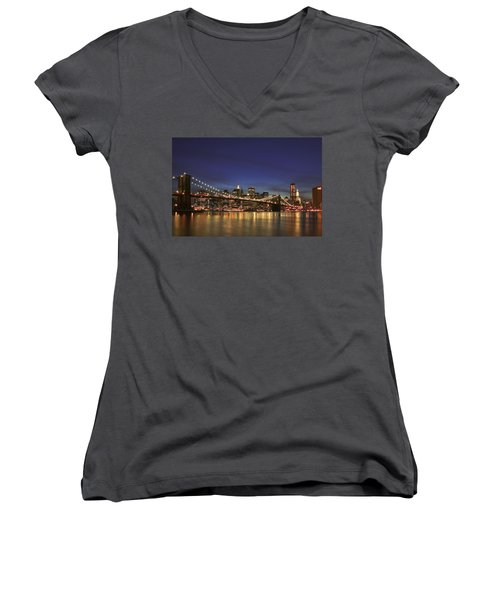 City Of Lights Women's V-Neck T-Shirt