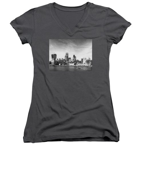 City Of London  Women's V-Neck T-Shirt