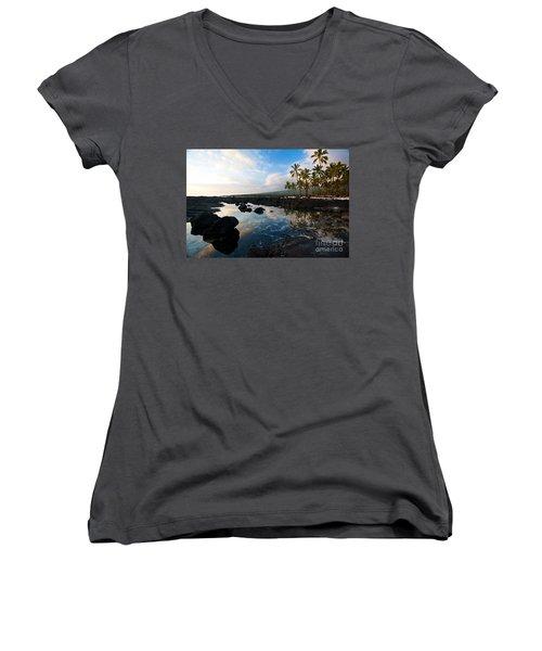 City Of Refuge Beach Women's V-Neck T-Shirt