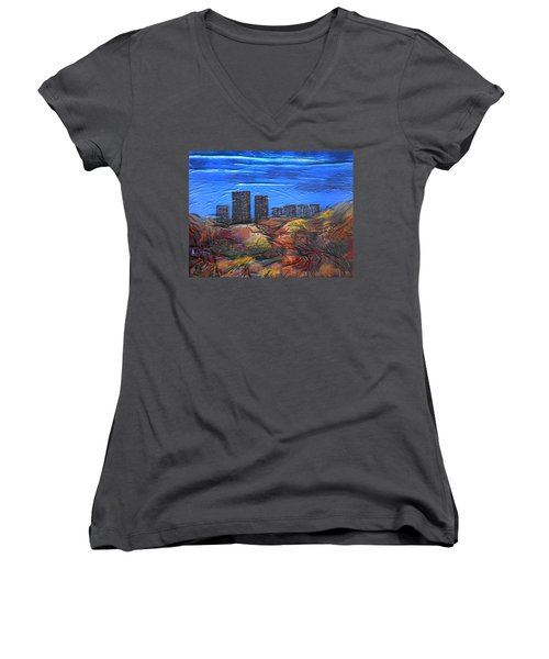 City Of Trees Women's V-Neck (Athletic Fit)