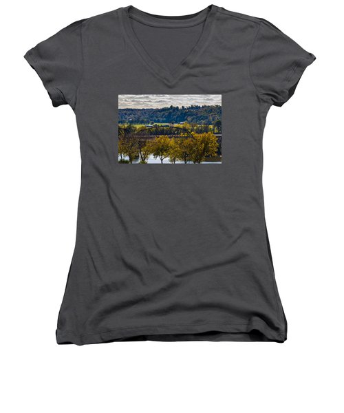 Clarksville Railroad Bridge Women's V-Neck