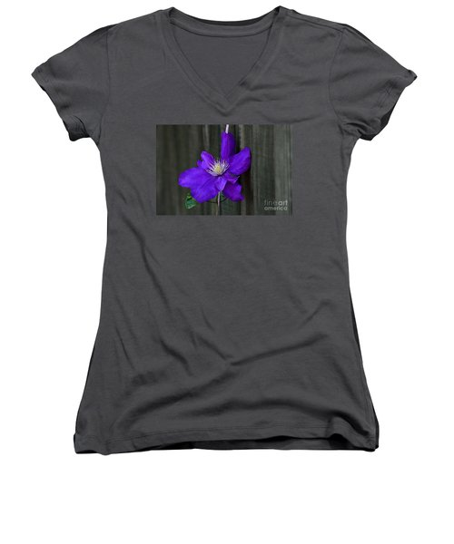 Clematis Climbing A String Women's V-Neck (Athletic Fit)