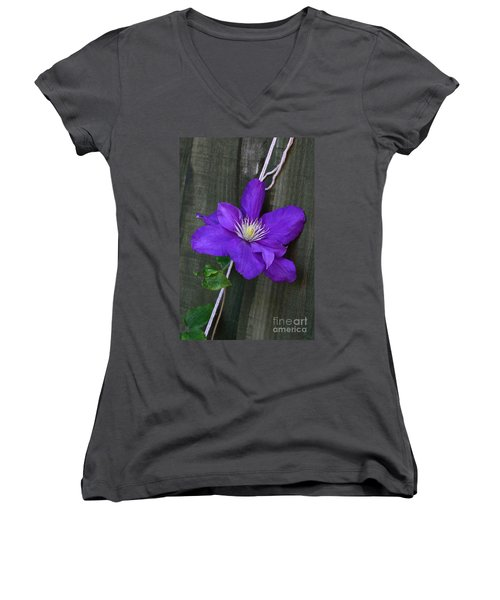 Clematis On A String Women's V-Neck