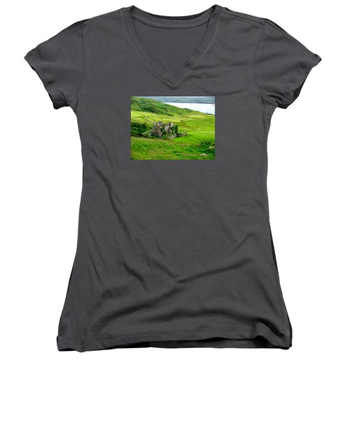 Clifden Castle Women's V-Neck T-Shirt