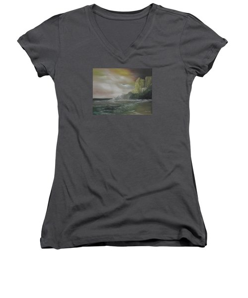 Cliff Bay Women's V-Neck T-Shirt