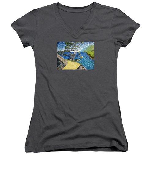 Cliff Women's V-Neck T-Shirt