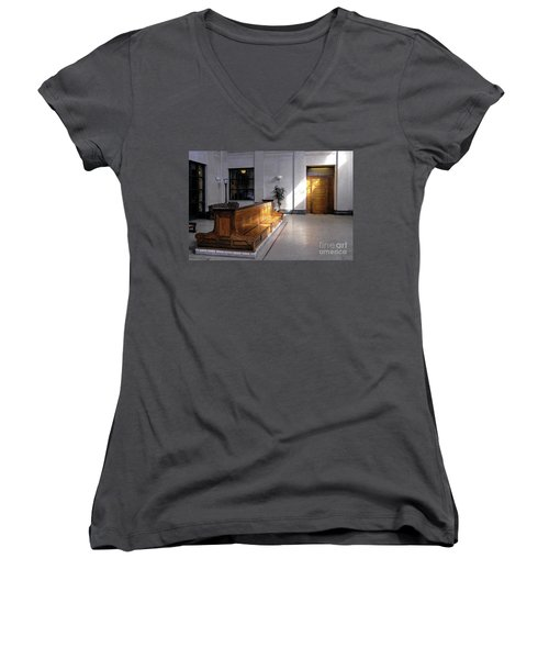 Closed Railroad Station - Johnstown Pa Women's V-Neck