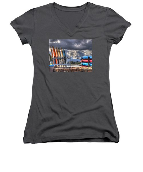 Cloudy Day Women's V-Neck (Athletic Fit)