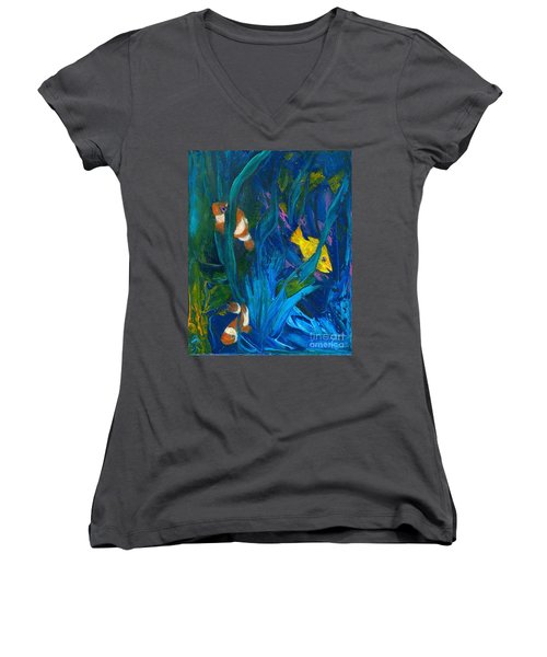 Clowning Around Women's V-Neck (Athletic Fit)