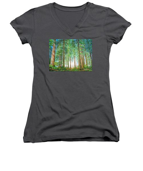Coastal Redwoods Women's V-Neck T-Shirt