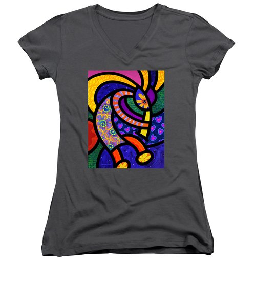 Coco Koko Pelli Women's V-Neck T-Shirt
