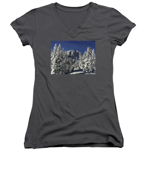 Cody Peak After A Snow Women's V-Neck T-Shirt