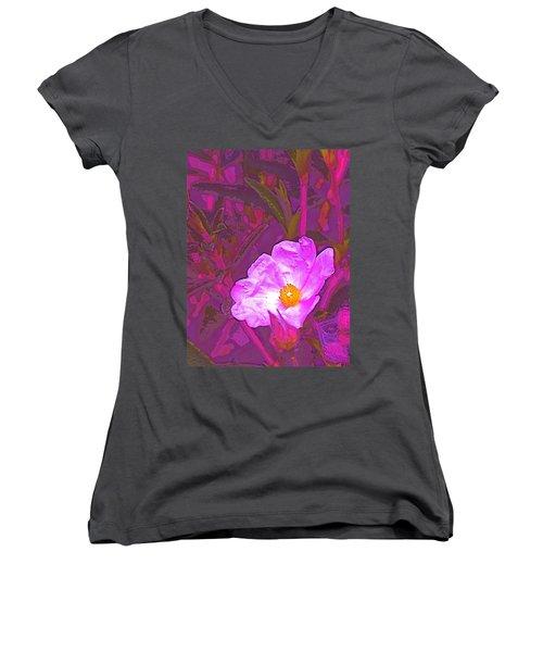 Women's V-Neck T-Shirt (Junior Cut) featuring the photograph Color 2 by Pamela Cooper