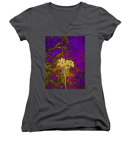 Women's V-Neck T-Shirt (Junior Cut) featuring the photograph Color 5 by Pamela Cooper