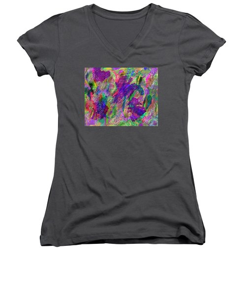 Color Dream Play Women's V-Neck T-Shirt (Junior Cut) by Penny Lisowski
