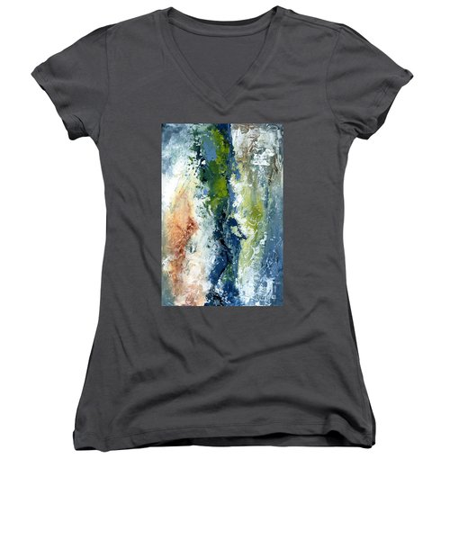 Color Harmony 10s Women's V-Neck T-Shirt (Junior Cut) by Emerico Imre Toth