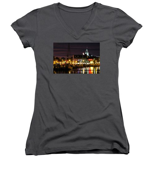 Colorful Annapolis Evening Women's V-Neck T-Shirt