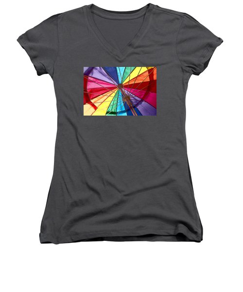 Colors Of Summer Women's V-Neck T-Shirt (Junior Cut) by Lynn Sprowl